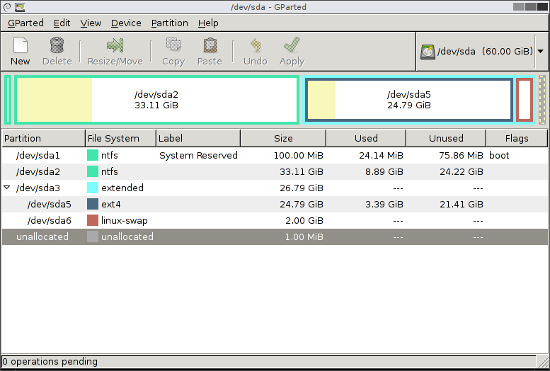 GParted Disk Partition Software