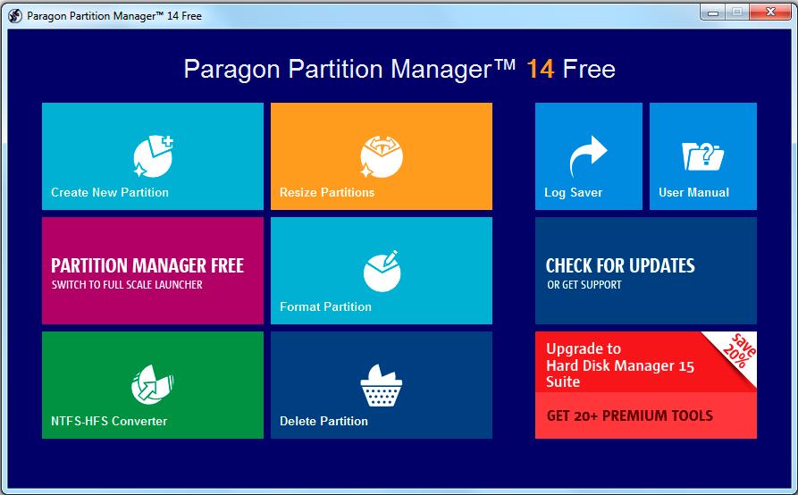 Paragon Partition Software