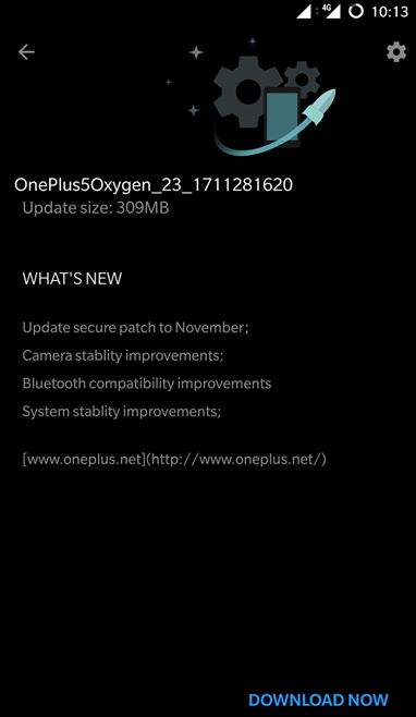 oneplus 5 oreo november security patch