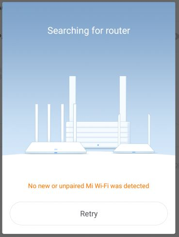 mi wi fi router error